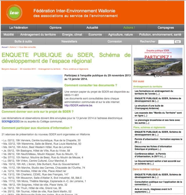Poilvache site IEW enquete SDER