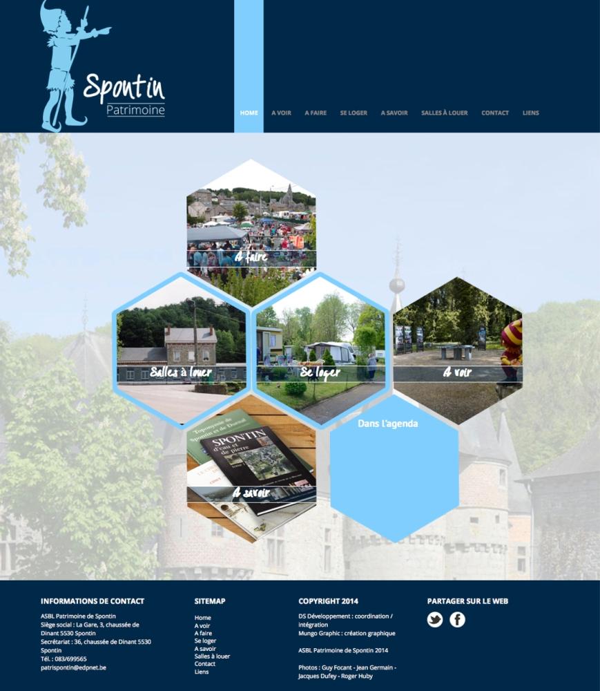 Un nouveau site web consacré à Spontin